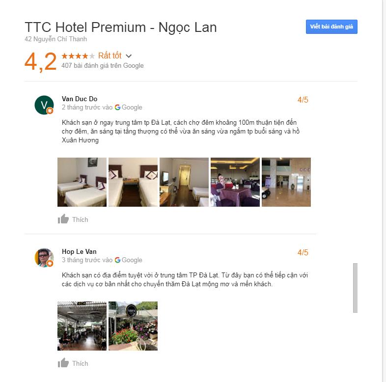 đánh giá khách sạn ngọc lan đà lạt