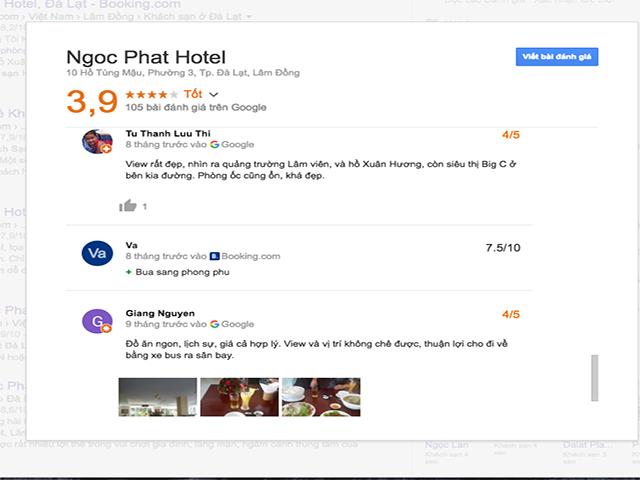 đánh giá khách sạn ngọc phát đà lạt