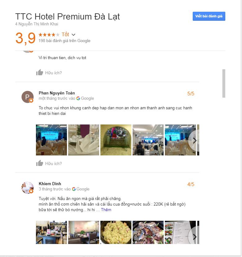 đánh giá khách sạn ttc đà lạt