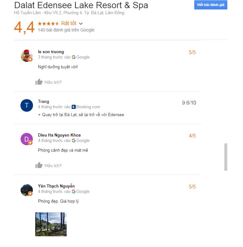 edensee resort 5 sao đà lạt