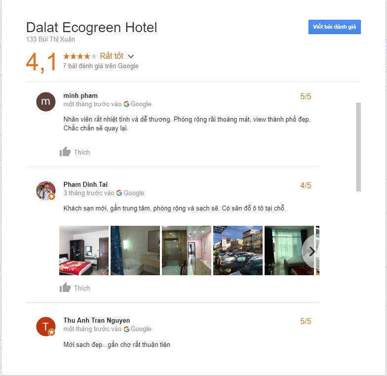 đánh giá khách sạn EcoGreen Đà Lạt