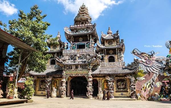 tour langbiang chùa linh phước