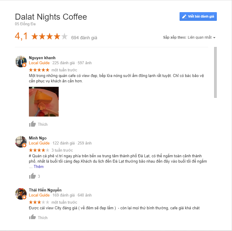 review dalat nights coffee