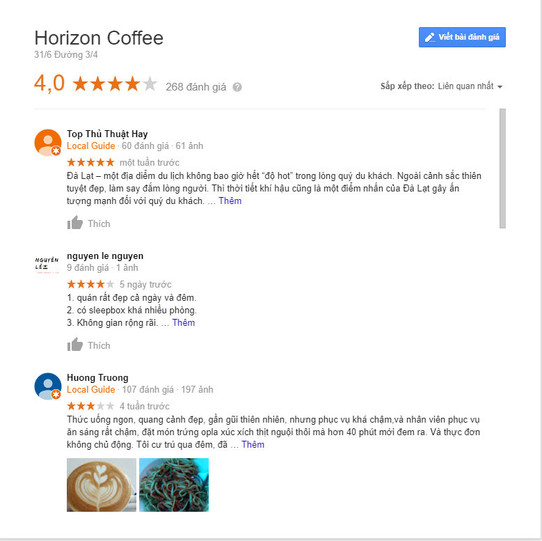review horizon coffe đà lạt