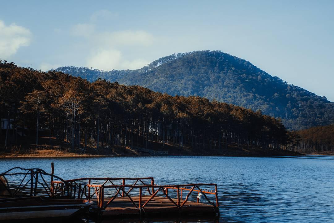 cầu gỗ hồ tuyền lâm