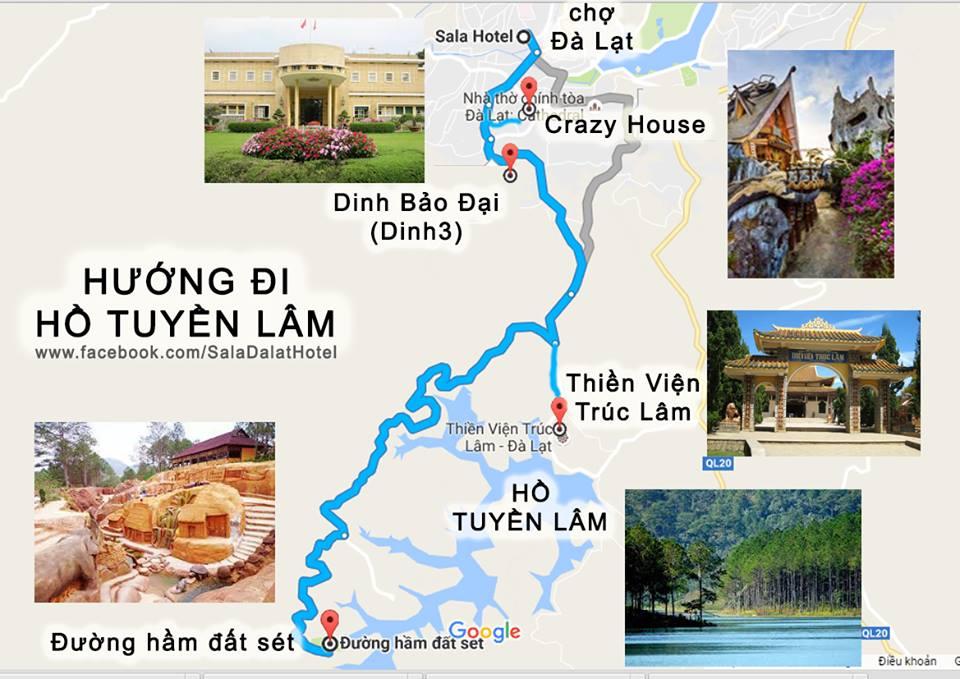 Đường đi đến Hồ Tuyền Lâm Đà Lạt