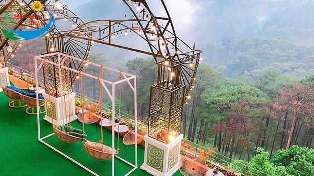 quán cafe khu vườn trên mây đà lạt