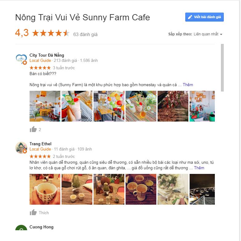 review nông trại vui vẻ sunny farm đà lạt