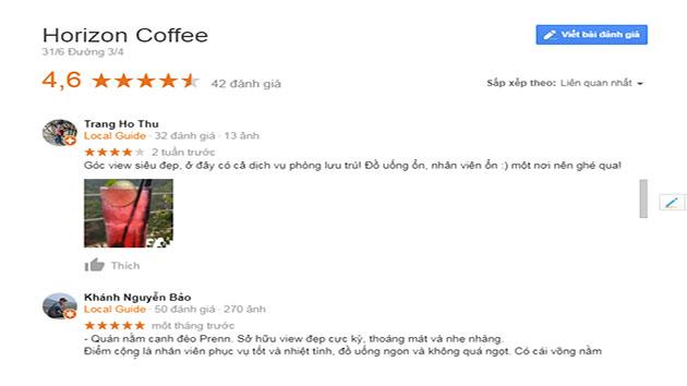 Đánh giá quán coffee Horizon Đà Lạt
