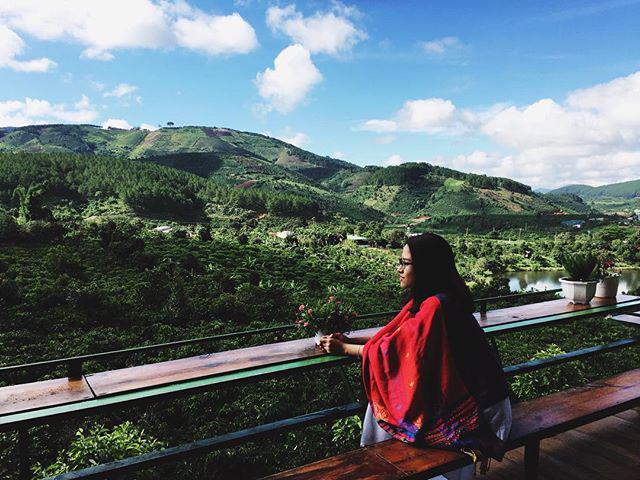 view ở quán cà phê Mê Linh Đà Lạt