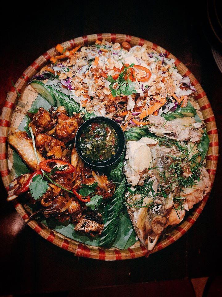món ăn tại Hiệp Khách làng Chài Đà Lạt