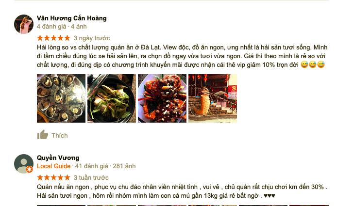 review quán kiếm hiệp làng chài Đà Lạt