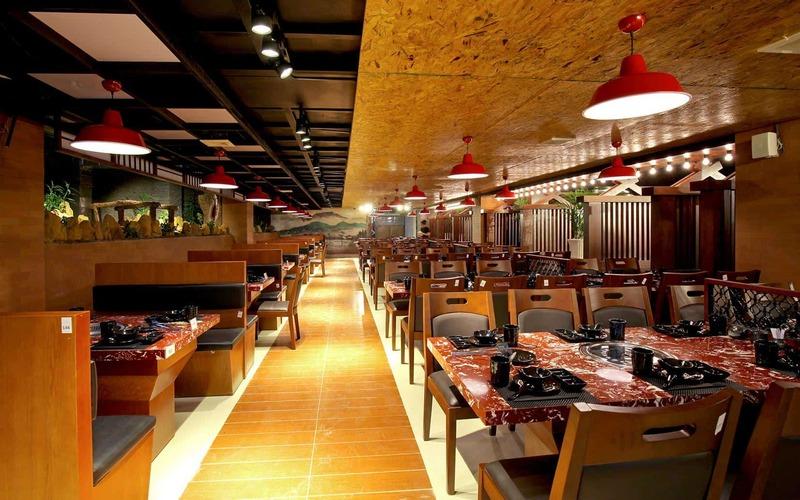 Không gian sang trọng của nhà hàng