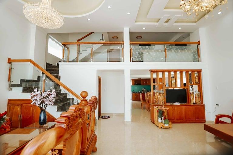 Không gian nhà bếp tại villa